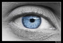 Blue Eye (Rob Unreall) Tags: blue blackandwhite bw macro eye blancoynegro azul cutout ojo nikon bn rob anatomy marta anatomia d700 100commentgroup unreall