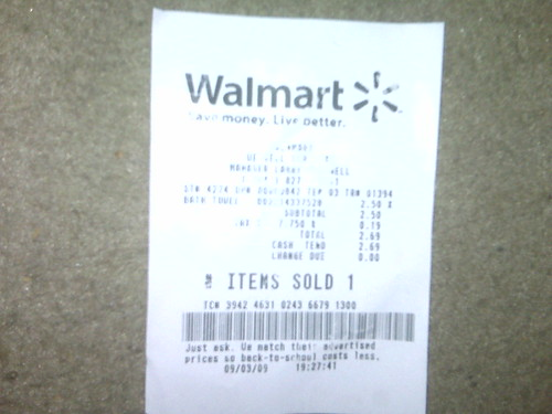 wal mart receipt a photo on flickriver