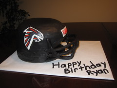 Falcons helmet birthday cake