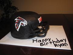 Falcons helmet birthday cake
