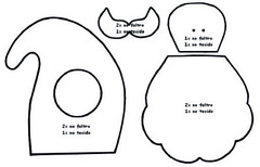 prendedor porta noel molde1 (Mnica [Artes MR]) Tags: natal artesanato feltro molde painatal