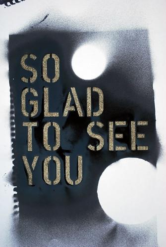 So Glad - stencil