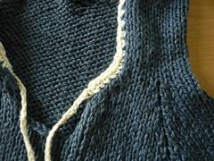 Baby hoodie - crochet edging
