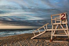 Lifeguard Tower at Sunrise in Sea Girt NJ (NjCarGuy) Tags: ocean life new sea tower beach sunrise sand chair guard nj lifeguard shore jersey jerseyshore deserted topaz adjust girt seagirt