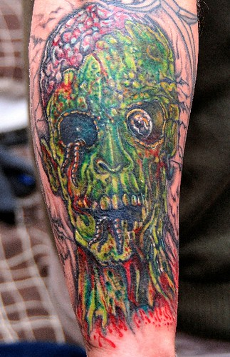 zombie tattoo. zombie tattoo. 2nd sitting