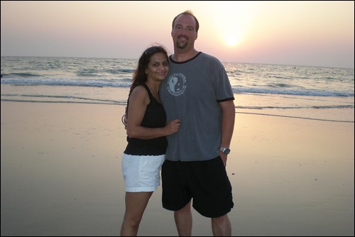 Goa - Us at Sunset