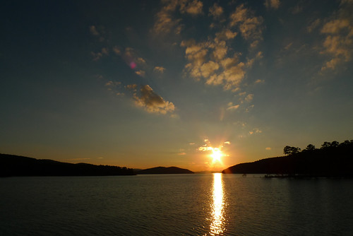 Sunset on Lake Ouachita