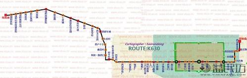沿线之后的K630公交线全图