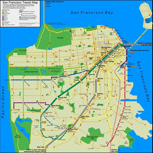 San Francisco Transit Map