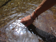 can't dip your hand in the same water twice (egotoagrimi) Tags: hand ikaria philosophy heraclitus chalares agrimi dipotama