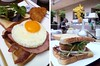 Bacon, Grilled Ham, Hash Browns, Egg, Salad Sandwich-1