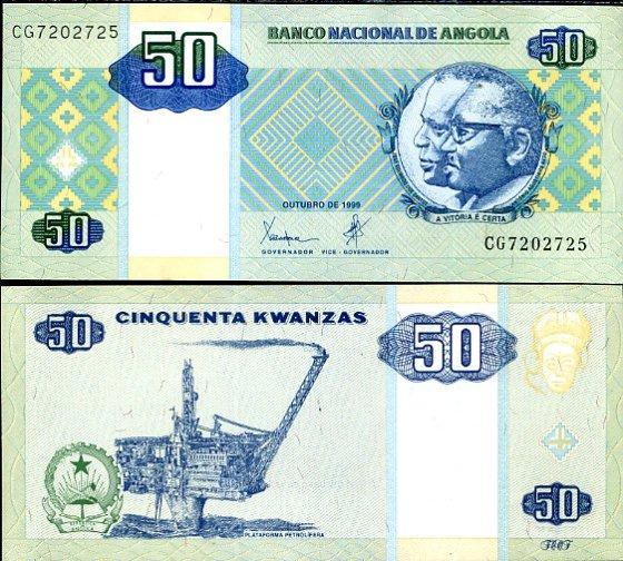 50 Kwanzas Angola 1999, Pick 145