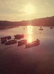 Calma (ricoyeb) Tags: calma mar boat barca pesca atardecer sunset reflejo yellow asturias sanvicentedelabarquera