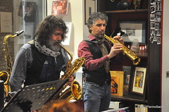 N2122870 (pierino sacchi) Tags: kammerspiel brunocerutti feliceclemente igorpoletti improvvisata jazz letture libreriacardano musica sassofono sax stranoduo
