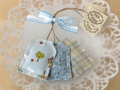 Lavender Teabags (PatchworkPottery) Tags: tea handmade sewing crafts lavender fabric teabag zakka sachet
