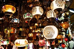 Lights on the Grand Bazaar, Istanbul, Turkey (ucmediaproducties) Tags: city travel light lamp turkey lights licht vakantie media asia europa europe muslim türkiye culture grand istanbul türkei lamps colourful bazaar uc markt productions 2009 citycentre turkije asya lampen reizen azië turchia grandbazaar muslimculture moslim turkei travelphotography lichten reisfotografie producties ucmedia ucutrecht ucmediaproducties
