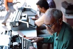 Joseph Lopez (Premshree Pillai) Tags: india film typewriter kodak bodylanguage bombay mumbai f5 bandra redtape nikonf5 ultracolor goan ultracolor400uc josephlopez kodakproultracolor400uc indianredtape indiamay09