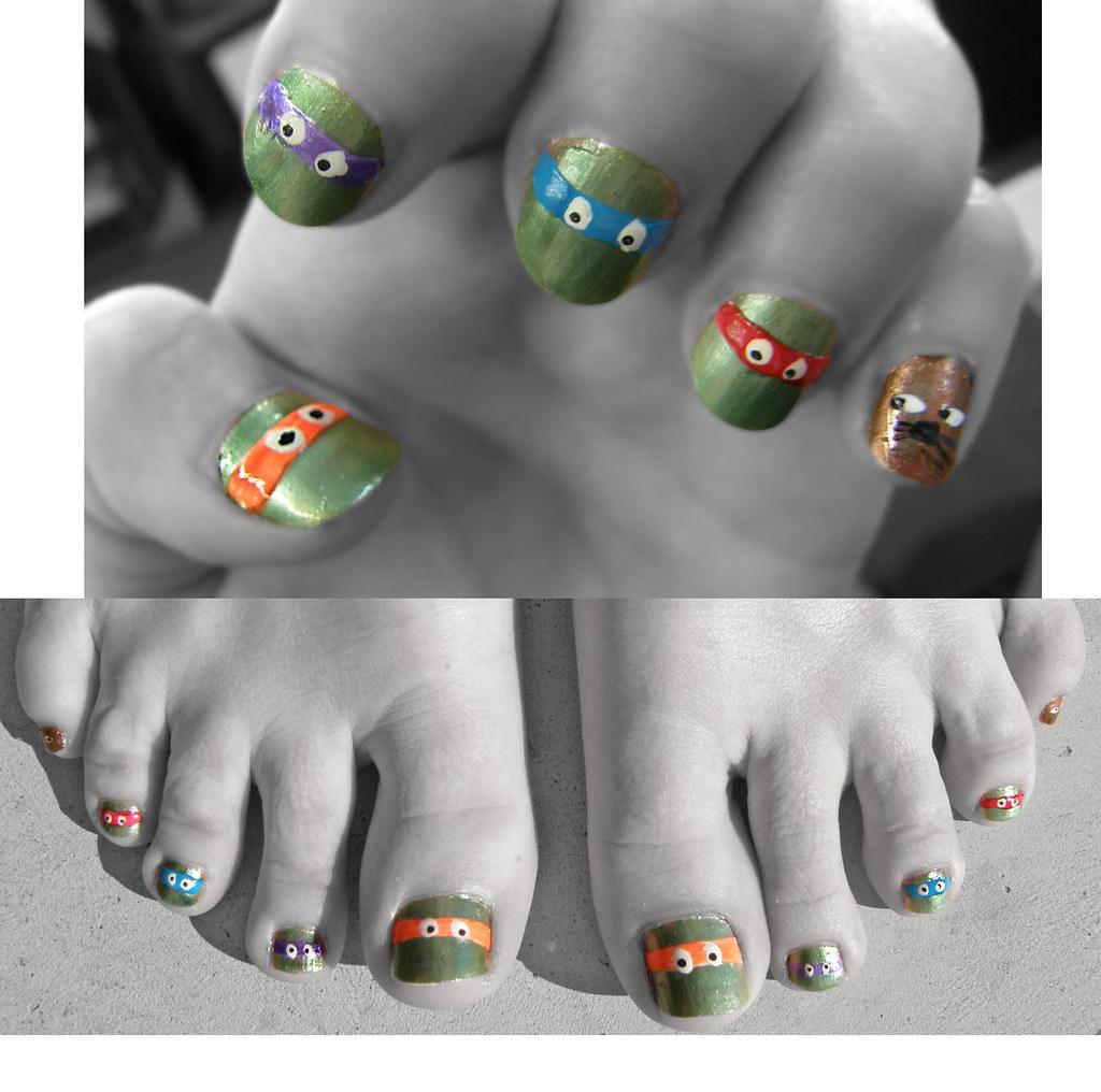 Fancy Teenage Mutant Ninja Turtle Nails Pattern - Nail Art Ideas ...