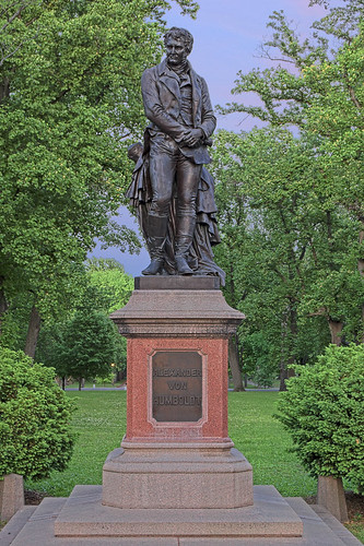 Tower Grove Park, in Saint Louis, Missouri, USA -  statue of Alexander von Humboldt