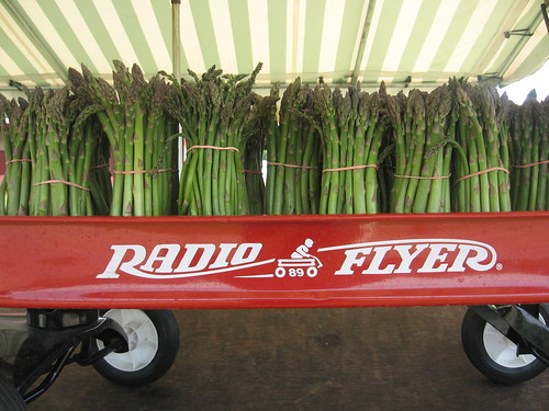 asparagus in radio flyer