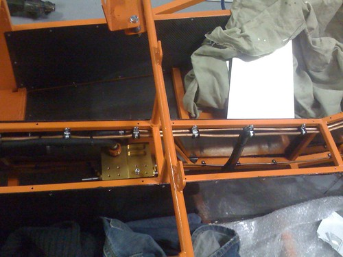 Reverse box in, with breather hose going to a bottle on the bulkhead