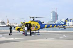 CAT Helicopters (FOlmeda) Tags: barcelona people port puerto 22 nikon gente aviation bcn helicopter grimaldi d300 aviacion helico helipuerto hotelvela lebl coordinador helicptero cathelicopters