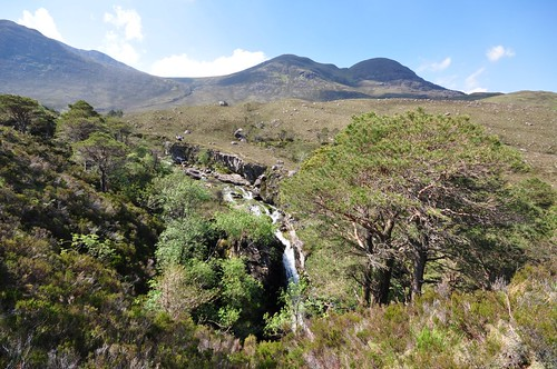 Waterfall below Beinn Damh
