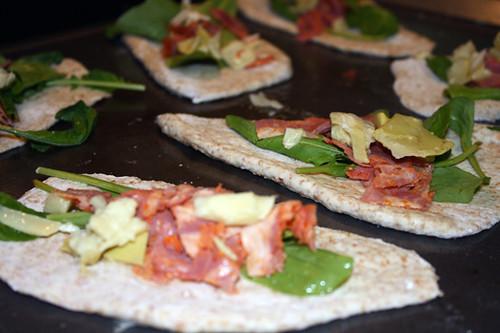 Mini Pizzas with Cappicola, Artichoke, and Arugula 2