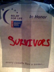 Tonight I celebrate the cancer survivors I know and don't know