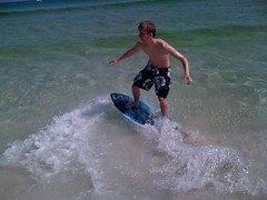 Making Waves (UsnaPete) Tags: ocean beach destin skimboarding