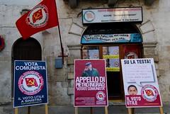 Old fashioned? (© AmistatZ ☆) Tags: italy italia puglia bari murge oldfashioned murgia rifondazionecomunista apulia comunistiitaliani partitocomunista puglie fuorimoda acquavivadellefonti sinistraeuropea europeanparliamentelection2009 elezionieuropee2009