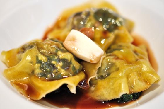 Morgan M: Ravioli of Snails with Garlic
