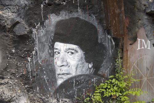 Muammar al Gaddafi Mouammar Kadhafi Colonel Quaddafi painted portrait _DDC6346