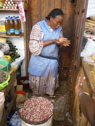 Woman Trader in Sandaga Market in Douala, Cameroon