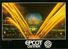 Disney Postcards (coconut wireless) Tags: world club vintage mouse one tv epcot florida fireworks earth postcard magic illuminations kingdom center disney laser spaceship fl wdw walt epcotcenter meandering sse earforce meanderingmouse mmctv