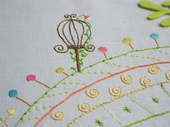vacation (a n a ) Tags: bird handmade linen embroidery working craft pssaro cage 32 bordado gaiola linho