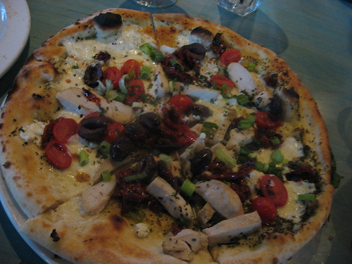 Chicken Blanca pizza at Via Baci in Lone Tree COlorado