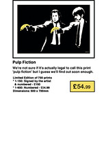 Banksy Print - Pulp Fiction POW (banksy-prints.com) Tags: pictures print screenprint banksy walls pow limited signed unsigned