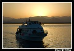 Strait of Tiran (CATDvd) Tags: sunset sea landscape boat mar barco redsea egypt paisaje nikond70s egipto egipte paisatge vaixell tiran marrojo marroig catdvd davidcomas june2009