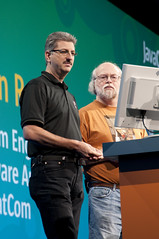 "Sven Reimer and James Gosling, General Session ""The Toy Show"" on June 5, JavaOne 2009 San Francisco"
