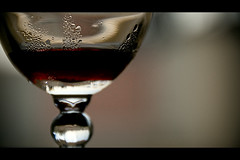 Lazy, Hazy (Melissa Maples) Tags: red cinema glass fruit turkey movie nikon asia wine drink widescreen trkiye pomegranate antalya sweat condensation letterbox nikkor cinematic 169 vr afs  18200mm   f3556g d40  18200mmf3556g