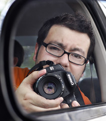 Mirror Self Portrait (Jesse Acosta) Tags: selfportrait car canon mirror sideview