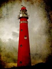LIGHTHOUSE (ThijsFr) Tags: red lighthouse storm texture netherlands waddenzee wadden vuurtoren schiermonnikoog waddeneilanden 50faves aplusphoto memoriesbook theunforgettablepictures platinumheartaward theperfectphotographer thenewacademy