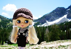 Cami out on a hike today
