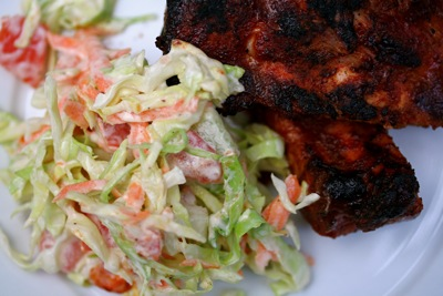 slaw with ribs-2