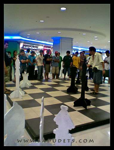 Life-size chessboard inside SM Manila