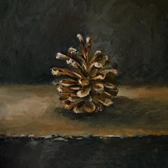 Pine Cone -SOLD- (fRiedl aRt) Tags: art pine painting cone oil pinecone friedl rockford masionite