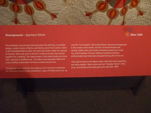 Pomegranate Applique Album Quilt - after 1850