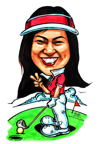 caricature of a golfer
