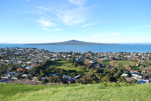 Devonport. On top of Mt Victoria. Ft. Rangitoto Island